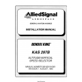 Bendix King KAS 297B Altitude/Verical Speed Selector Installation Manual 006-00618-0001 $4.95