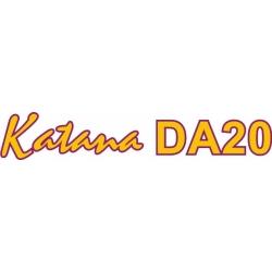 Katana DA20 Aircraft Decal,Sticker 6 1/2''high x 26 1/2''wide!