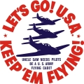 Keep E'm Flying,LEt's Go USA Aircraft Signs,Decals!