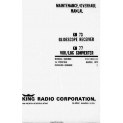 Bendix King KN 73-77 Installation Maintenance Overhaul Manual $19.95