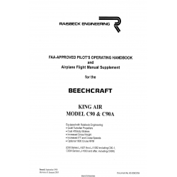 Beechcraft King Air Model C90 & C90A FAA- Approved Pilot's Operating Handbook and Airplane Flight Manual Suppplement 90-206CGwbook 13-206CGW