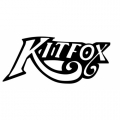 "Kitfox Lettering !Sticker/Decal Vinyl Graphics! 8"" wide by 3.5"" high!"