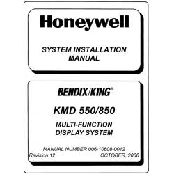 Bendix King KMD 550/850 System Installation Manual 006-10608-0012 v2006 $29.95