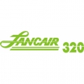 Lancair 320 Aircraft Decal,Sticker 3 3/8''high x 11 1/2''wide!