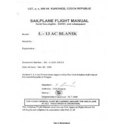 Blanik L-13 AC Sailplane Flight Manual/POH