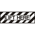 Lift Here Aircraft Placards,Decals!