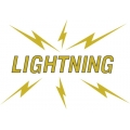 "Lightning Decal/Vinyl Sticker 10.5"" wide by 7.34"" high!"