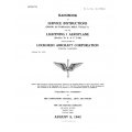 Lockheed Lightning I Aeroplane Handbook of Service Instructions $9.95