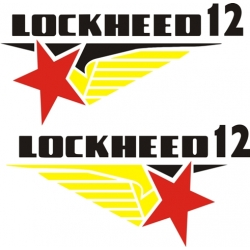 Lockheed 12 Aircraft Logo,Decals!