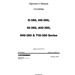Lycoming O-360, HO-360, IO-360, AIO-360, HIO-360 & TIO-360 Series 60297-12 $19.95