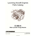 Lycoming O-360-A Aircraft Engines Wide Cylinder Flange Models Parts Catalog PC-306-1 $13.95