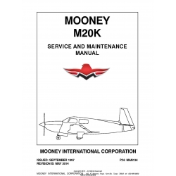 Mooney M20K Service and Maintenance Manual P/N MAN134