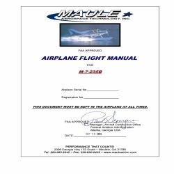 Maule M-7-235B Airplane Flight Manual 1993