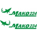Mako 224 Boat Logo,Decals!