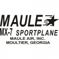 Maule MX-7 Sportplane Aircraft Decal/Sticker 2 1/2''high x 5 5/8''wide!