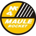 Maule M4-Rocket Aircraft Decal/Sticker 6''round diameter!