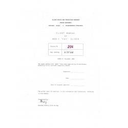 Flight Manual/POH of MDM-1 ''FOX'' Glider $ 6.95