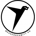 "Messerschmitt Aircraft Logo Decals/Stickers! 5"" wide by 5.3"" high!"