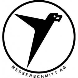 """Messerschmitt Aircraft Logo Decals/Stickers! 5"""" wide by 5.3"""" high!"""