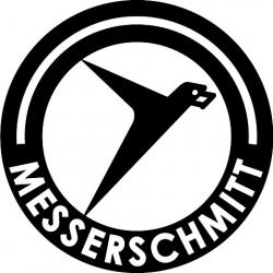 """Messerschmitt Aircraft Logo Decals/Stickers! 6"""" round"""