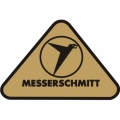 Messerschmitt Aircraft Decal,Sticker 2''high x 3''wide!