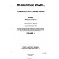 Pratt and Whitney Model PT6A-38-41-42-42A TurboProp Gas Turbine Engine Maintenance Manual 3021442