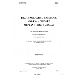 Piper PA-24-180 Comanche Pilot's Operating Handbook and Flight Manual N5789P $13.95
