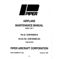 Piper Cheyenne III/IIIA Maintenance Manual  PA-42/42-720 $13.95 Part # 761-523