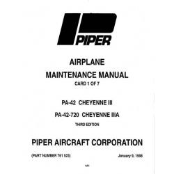 Piper Cheyenne III/IIIA Maintenance Manual  PA-42/42-720 $13.95 Part # 761-523