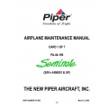 Piper Seminole Maintenance Manual PA-44-180 $13.95 Part # 761-892