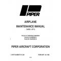 Piper Cherokee Warrior PA-28-151 & Warrior II & III PA-28-161 Maintenance Manual $13.95 Part # 761-539