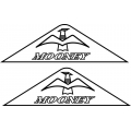 Mooney Aircraft Yoke Decal,Sticker!