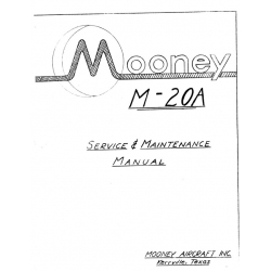 Mooney M-20A Service & Maintenance Manual $13.95