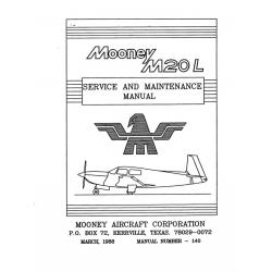 Mooney M20L Service and Maintenance Manual $19.95