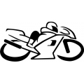 "Motorcycle 3 Decal/Vinyl Sticker 10"" wide $10.95"