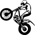 Motorcycle Jump Decal/Vinyl Sticker 10 inches high! $9.95