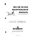 Mitsubishi MU-2B-35-36A Maintenance Manual MR-0218