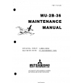 Mitsubishi MU-2B-36 Maintenance Manual YET74125