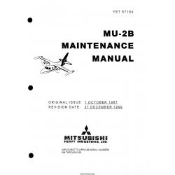 Mitsubishi MU-2B Maintenance Manual YET67164