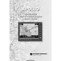 Apollo Model MX20 Multi-Function Display User's Guide 560-1026-01 $4.95
