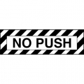 No Push Aircraft Placards,Decals!