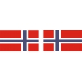 Norway Flag Decal 4.5'' wide x 3'' high!