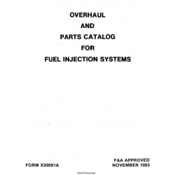 Overhaul and Parts Catalog for Fuel Injection X30091A $13.95