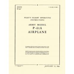 Northrop P-61A Pilot's Flight Operating Instruction Army 1944