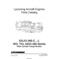 Lycoming IO/LIO-360-C, J, HIO,TIO,AEIO-360 Series Parts Catalog PC-406-2 $13.95