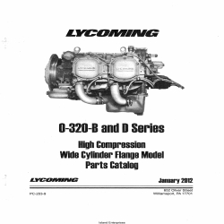 Lycoming 0-320-B and D Series High Compression Wide Cylinder Flange Model Parts Catalog Part # 203-9