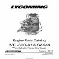Lycoming IVO-360-A 1 A Series Parts Catalog PC-306-17