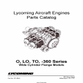 Lycoming O, LO, TO, -360 Series Wide Cylinder Flange Models Parts Catalog Part # PC-306-2 v2010 $19.95