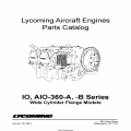 Lycoming IO, AIO-360-A, -B Series Wide Cylinder Flange Models Parts Catalog Part # PC-406-1 v1995