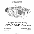 Lycoming YIO-390-B Series Part Catalog Part # PC-409-2 v2009 $19.95